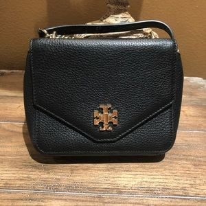 Tory Burch || Kira Black Pebbled Leather Crossbody